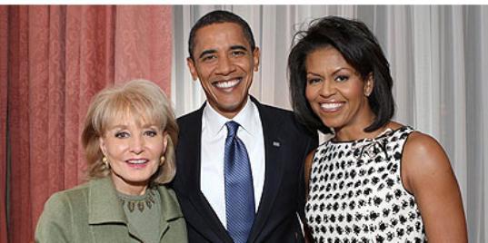 The Obamas and Barbara Walters