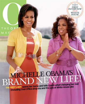 First Lady Michelle Obama Shares April Cover With Oprah