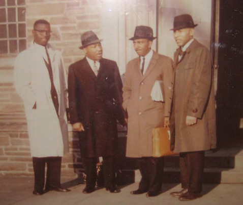 From left to right: Kenneth Hagood, Dr. King, Rev. Joseph Lowery, Dr. Edward Hart, 1961