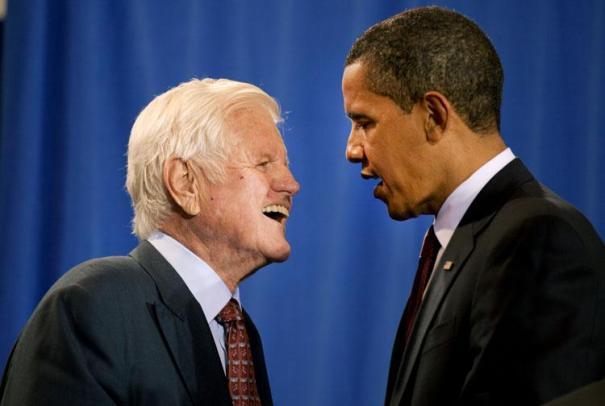 President Obama and Seantor Edward M. Kennedy, Spring 2009
