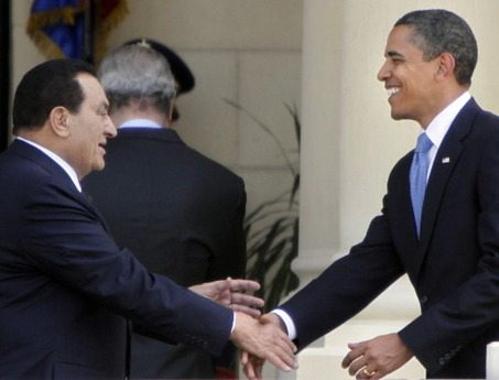 obama and mubarak
