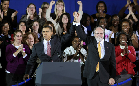 President Barack Obama and New Jersey Governor Jon S. Corzine - Photo Courtesy of The New York Times