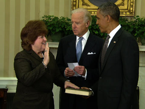 Swearing-In Ceremony of Julia Pierson, New Director of The Secret Service