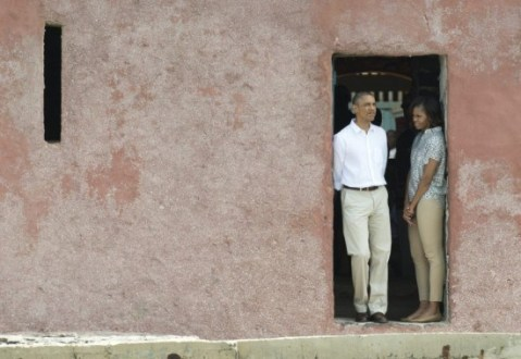 In Case You Missed It: President Obama and First Family Visits Maison des Esclaves